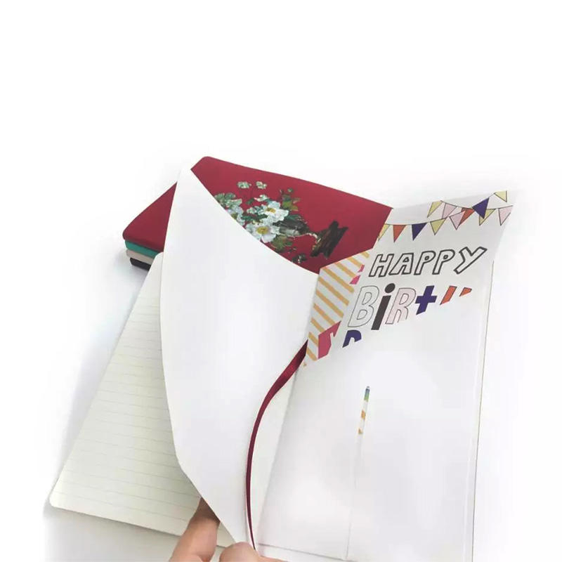 PU Texture Leather Soft Cover Notebook With Inner Pocket