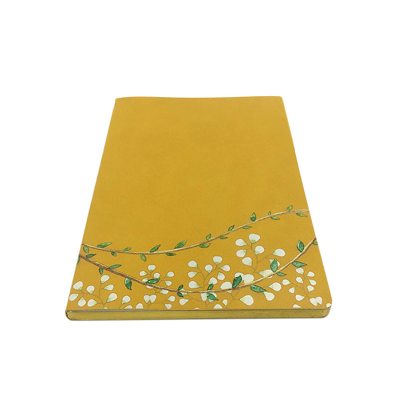 A5 Flower Printed leather Notebook Soft Cover  Leather Lined Journal With Gift Boxes