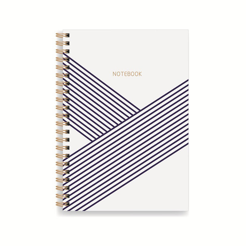 Simple Design Printing Gold Spiral notebook Bound A5 Elegant Pink Journal