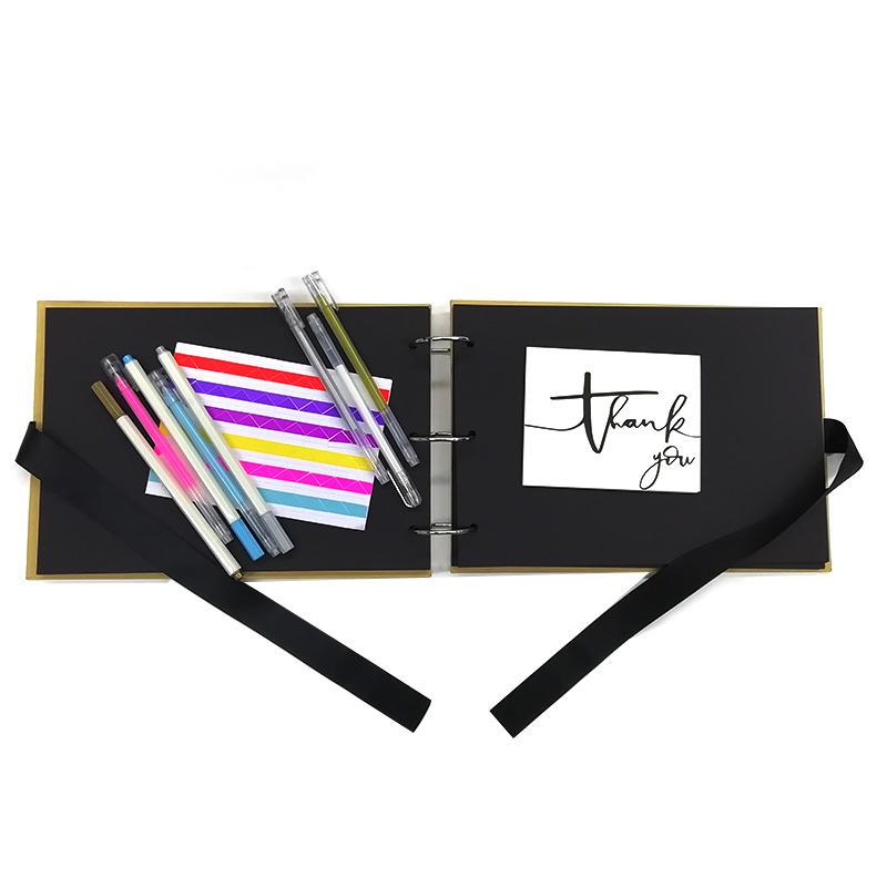 Promotion Custom Design Kraft Paper Hardcover 3 Ring DIY Scrapbook Photo Album For Wedding PAS--001