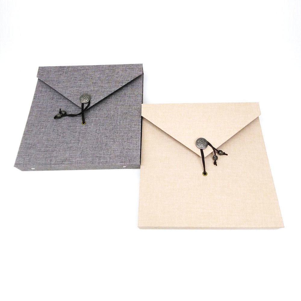 Loose-Leaf Binding Square 10x10 Hardcover Linen Photo self   Album Adhesive Pages With String Closure