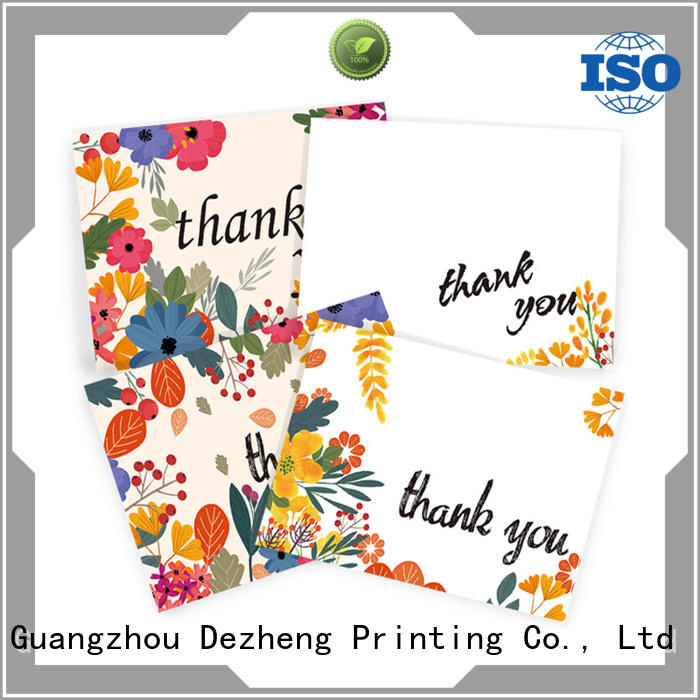latest custom thank you cards pack OEM for friendship