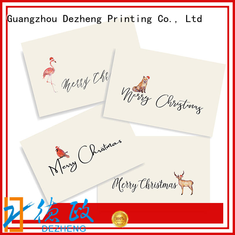 Dezheng Breathable personalised christmas cards original for Christmas gift