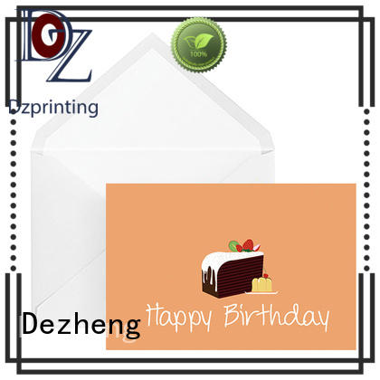 Dezheng high-quality happy birthday beautiful card company For birthday