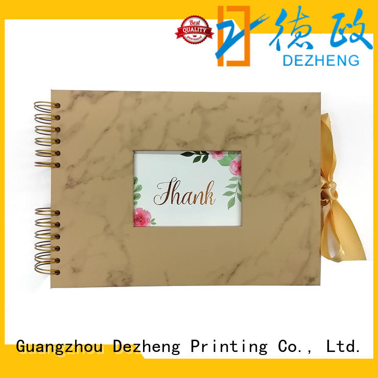 Dezheng Wholesale leather photo album book for business For memory saving