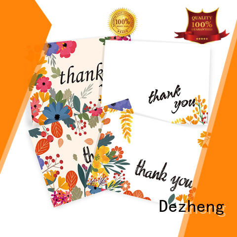 Dezheng on-sale beautiful thank you cards floral for gift