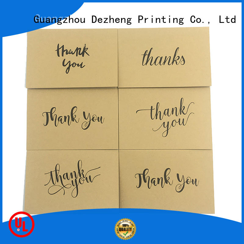 Dezheng latest thank you greeting cards customization for festival