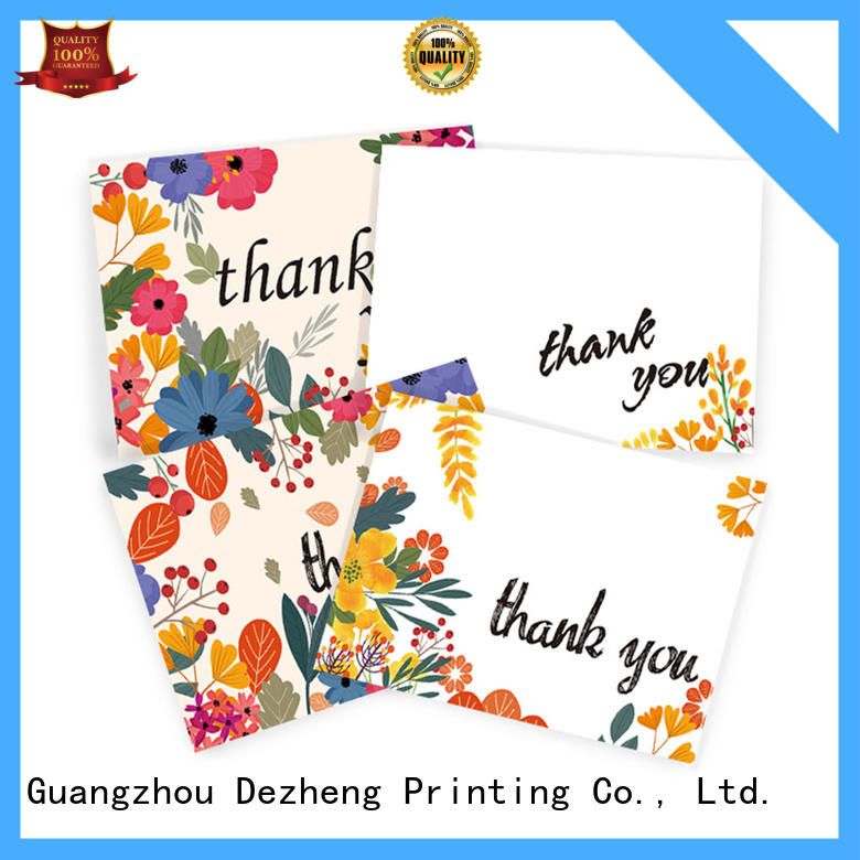 Dezheng portable thank you card for friend buy now for gift