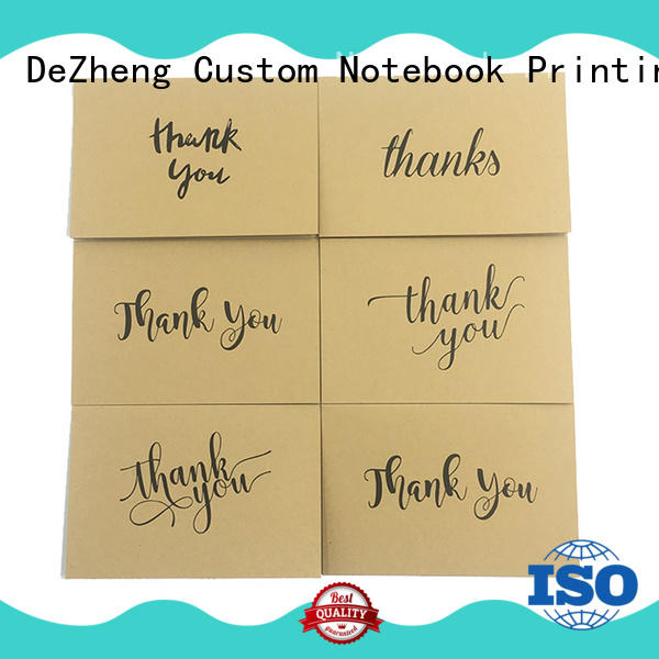 Dezheng Breathable thank you card for friend free sample for festival
