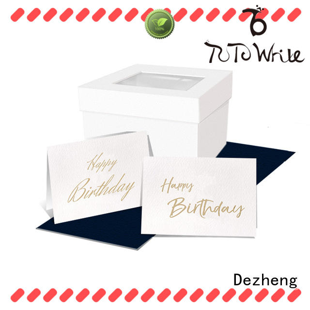 portable custom made birthday cards for wholesale For gift card Dezheng