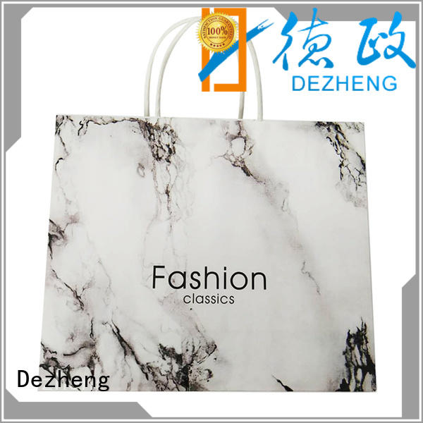 Dezheng white paper shopping bags customization for friendship