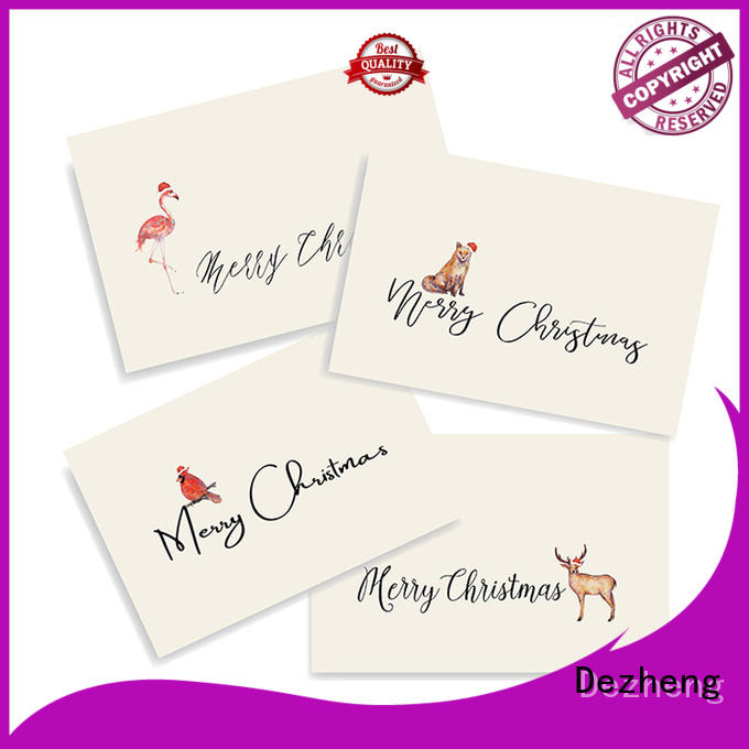 Dezheng creative xmas cards customization