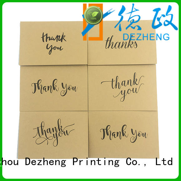 Dezheng Top blank thank you cards for friendship