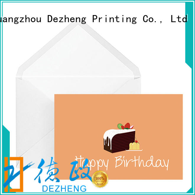 Dezheng at discount birthday cards for friends bulk production For gift card
