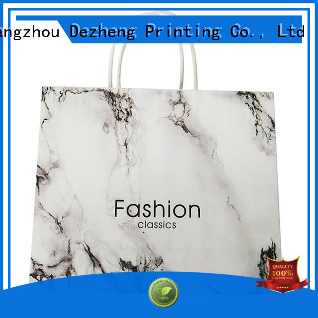 durable paper shopping bags marble customization for gift