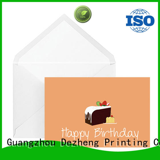 Dezheng latest happy birthday to you card manufacturers For gift card
