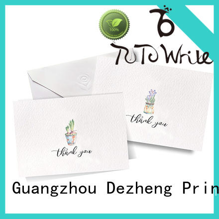 Dezheng on-sale greeting card style supplier for gift