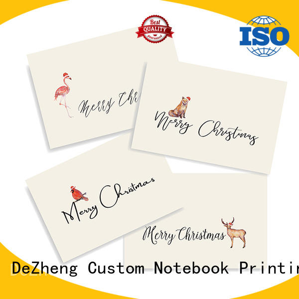 Dezheng animal custom printed holiday cards