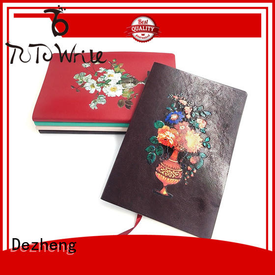 journal personalized leather journals notebooks bookmark for note taking Dezheng