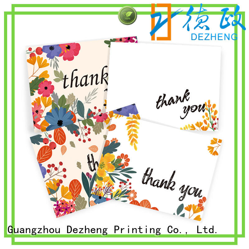 Dezheng recycled personalized congratulations cards supplier for festival