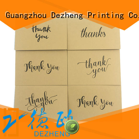 Dezheng pack Personalized thank you cards Supply for friendship