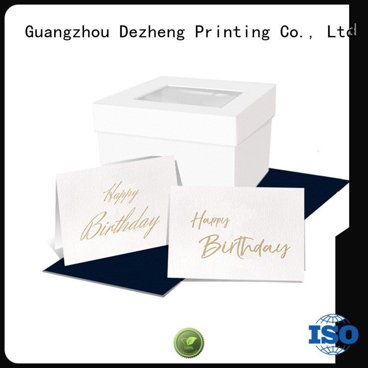 Dezheng gift custom birthday card maker company