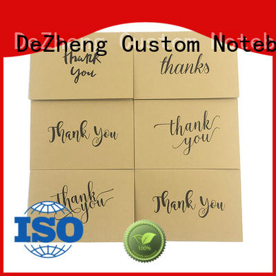 Dezheng kraft custom printed thank you cards customization for gift