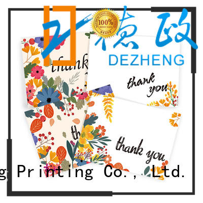 Dezheng cards Personalized thank you cards manufacturers for festival