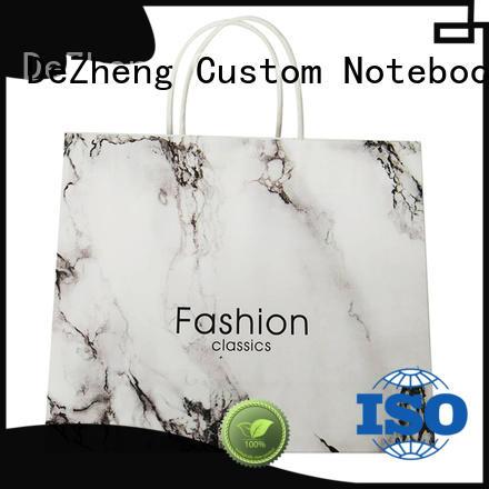 Dezheng white paper bag supplier customization for gift
