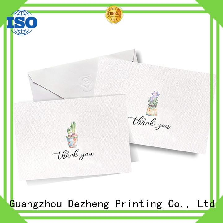 Dezheng gold custom greeting cards free sample for gift