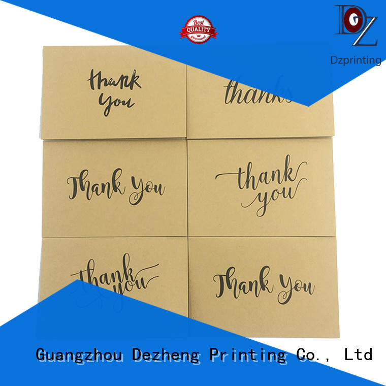 Dezheng pack personalized thank you cards for business for gift