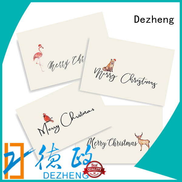 animal christmas card sale ODM For festival gift Dezheng