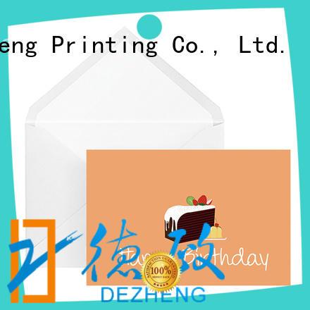 Dezheng white birthday wishes card free sample