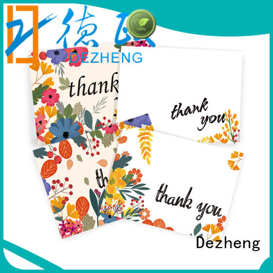 Dezheng at discount custom made thank you cards bulk production for friendship