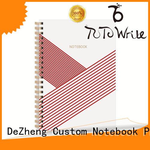 Best custom spiral bound notebook simple customization For school
