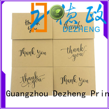durable personalized thank you cards OEM for gift