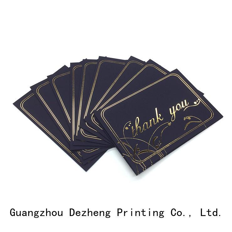 pack greeting card price OEM for festival Dezheng