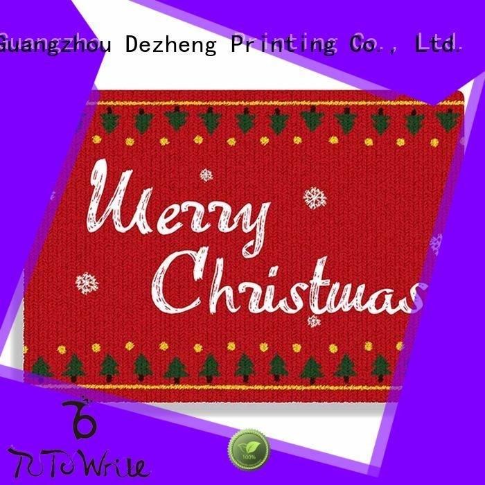 Dezheng solid mesh custom made christmas cards pattern For festival gift