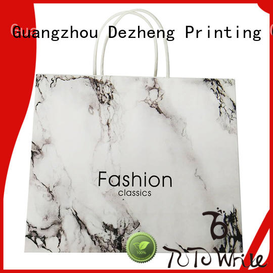 Dezheng portable personalised paper bags for business for gift