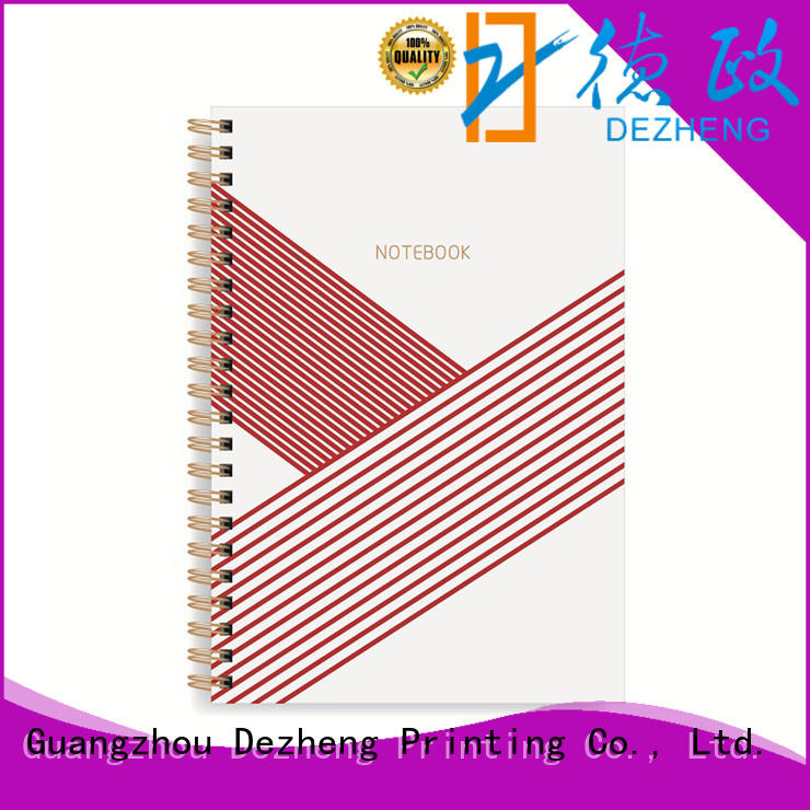 printing blank spiral notebook bulk production for career Dezheng