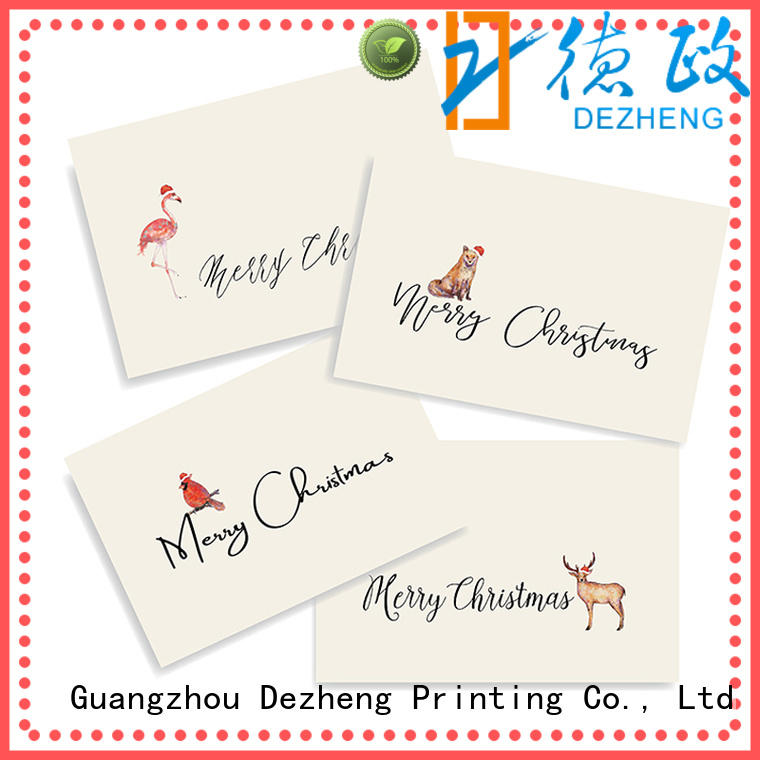 Dezheng portable custom christmas cards factory