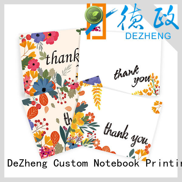 Top custom printed thank you cards pack factory for festival