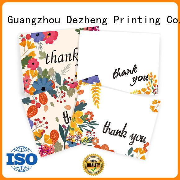 Dezheng Custom custom thank you cards factory for gift