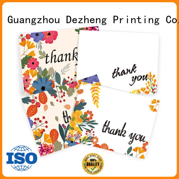 Dezheng Custom custom thank you cards factory for gift