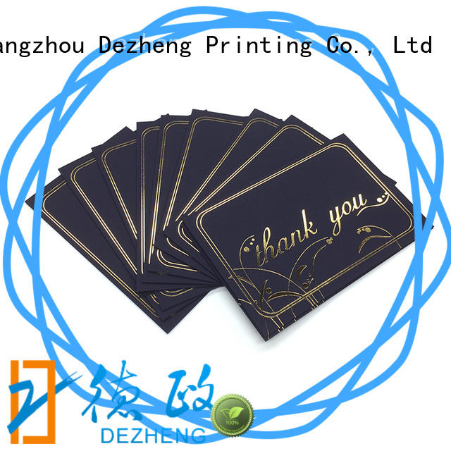 Dezheng 2019 new design custom made greeting cards foil