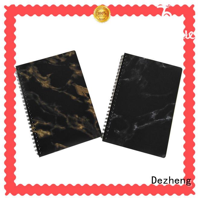 eco 2019 new design custom logo eco friendly student marble spiral notebook Dezheng