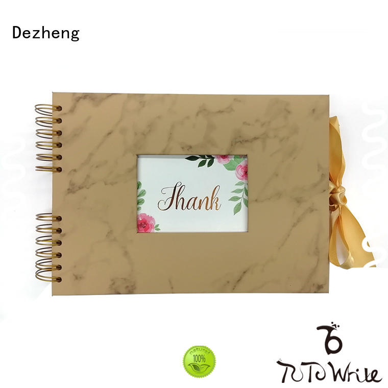 Dezheng binding custom leather album bulk production For memory saving
