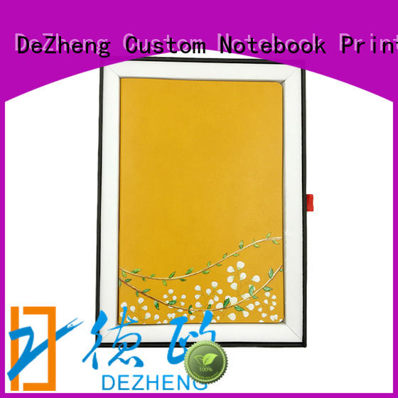 Dezheng Custom personalised leather notebook Suppliers For school