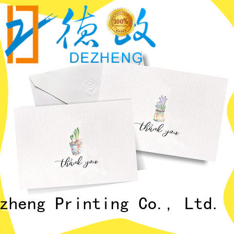 Dezheng portable custom greeting card printing free sample for friendship