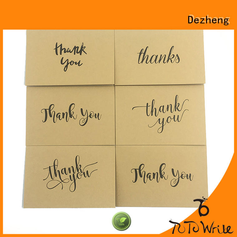 Breathable thanks card 100 supplier for gift